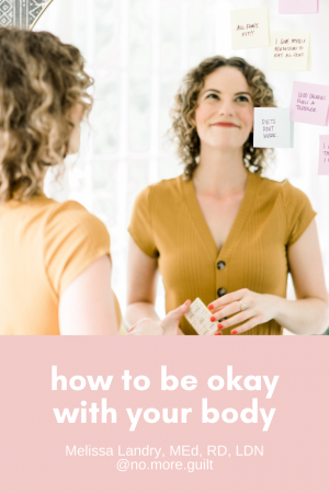 how to be okay with your body