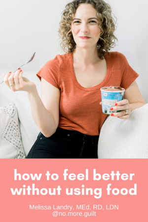 how to feel better without using food