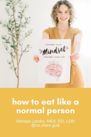 how to eat like a normal person