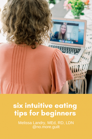 six intuitive eating tips for beginners